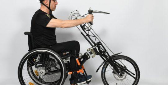 Sitzposition Vorspann-Handbike