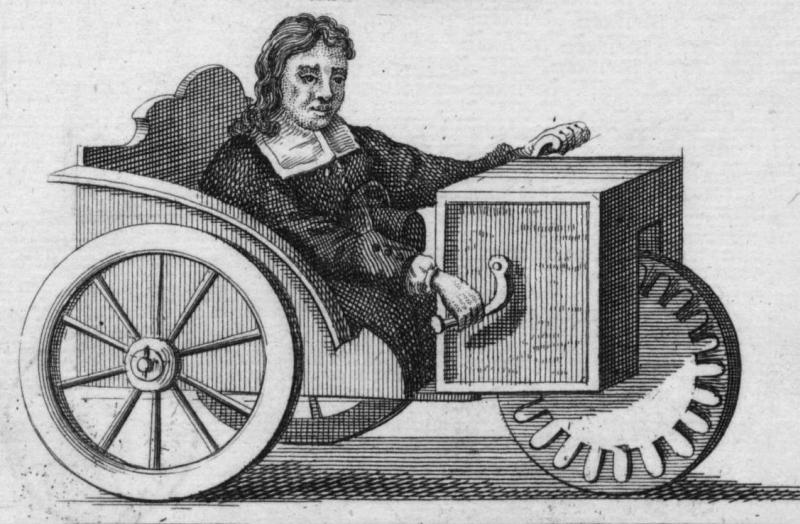 Rollstuhl mit Handkurbelantrieb, Stefan Frafler, 1655