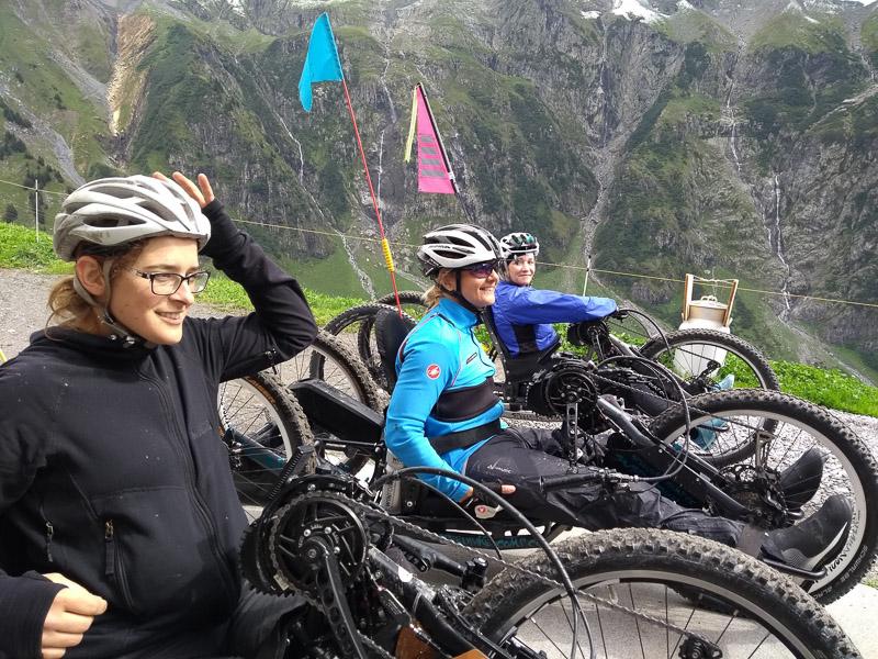 Drei Ladys mit Bafang Mittelmotoren am Praschberger CompCC