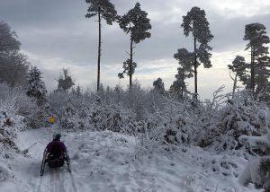 CrossCountry-Handbike im Winter