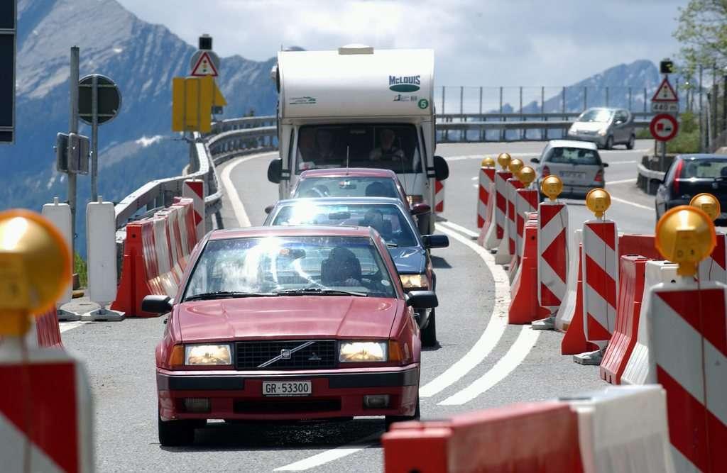 Verkehr auf der Pass-Strasse
