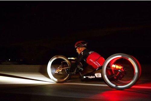 André Kajlich am Race across America mit dem Handbike