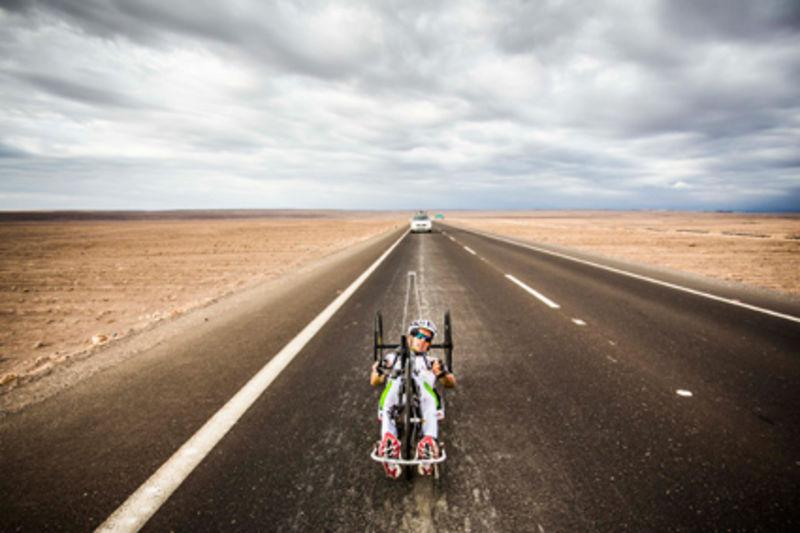 Manfred Putz Rekordfahrt in der Wüste