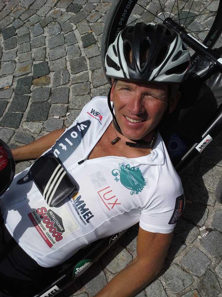 Rekord-Handbiker Manfred Putz