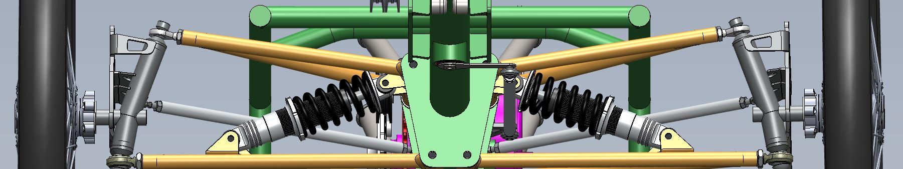 Ausschnitt aus CAD-Zeichnung, Vorderradaufhängung
