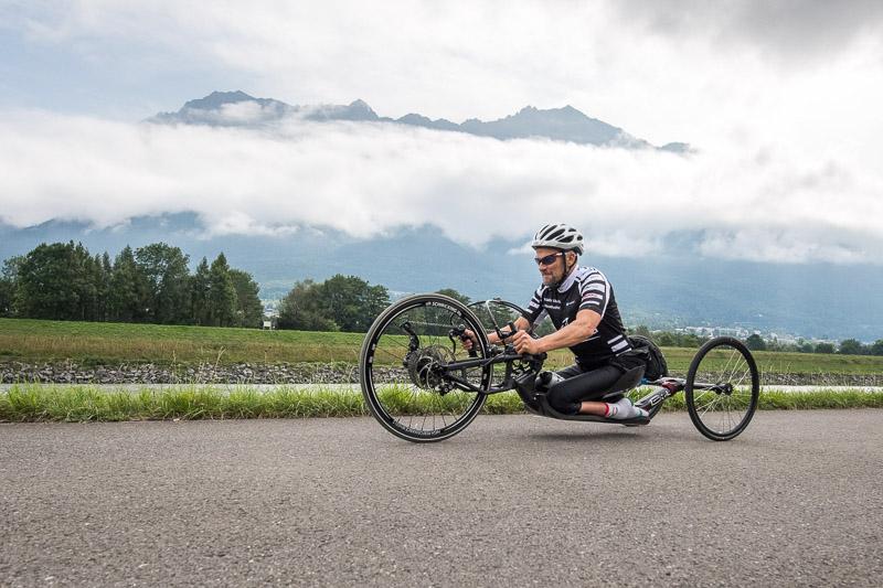 Walter Eberle auf der Radstrecke
