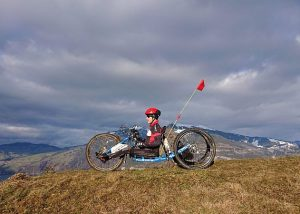 Fabian Recher, CrossCountry-Handbike im Berner Oberland